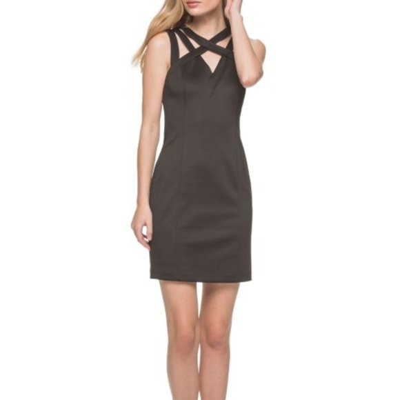 1bf14f6e504 New Guess Black Sleeveless Cocktail Dress NWT